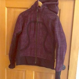 Lululemon Scuba Hoodie in purple and black!